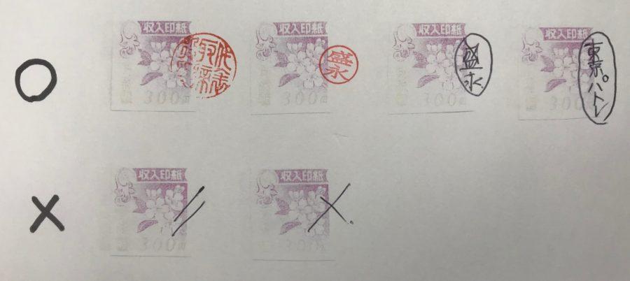 収入印紙割り印